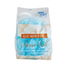 SB CLEAN&BEAUTY Мочалка для душа Flower ball rose shower ball 1шт